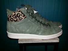 ADIDAS ORIGINALS AO HOOK SHOT II GREEN LEOPARD SUEDE G96318 SIZE12.5