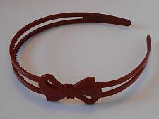 Serre-tête Large Motif Noeud fin Couleur Bordeaux ST0105F