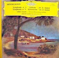 LORIN MAAZEL/BERLIN symphonie n°4 & 5 italienne/réformation MENDELSSOHN LP VG++
