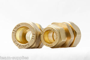 BRASS COMPRESSION REDUCER COUPLING 15MM - 12MM REDUCING COUPLER