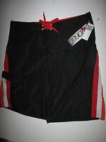NWT Zonal Clothing *34* Mens Surf Beach Boardshort Board Shorts Black Orange Red