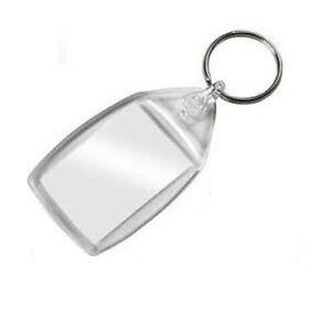 BLANK Photo Key Ring Keyrings - 1 2 5 10 or 20 - Insert Size 35 mm x 24 mm.