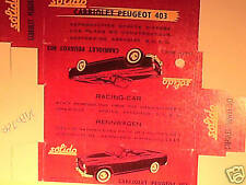 REPLIQUE BOITE PEUGEOT 403 CABRIOLET SOLIDO 1961