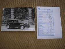 FIAT 1100 BL FOTO ORIGINALE CON DATI TECNICI DIREZIONE STAMPA E PROPAGANDA