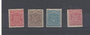 Rhodesia 1898-1908 vals MH