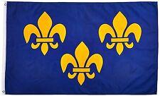 3x5 Fleur De Lis French Blue Flag 3'x5' House Banner Brass Grommets Polyester