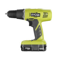 Ryobi 18V One Plus Li-Ion 3/8 in. Starter Drill Driver Kit P1810 Reconditioned
