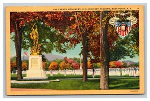 Vintage 1930's Postcard French Monument US Military Academy West Point New York
