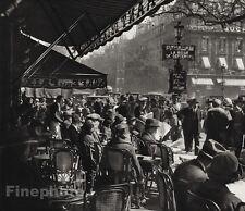 1927 Vintage FRANCE Paris Cafe de la Paix Cityscape Restaurant Photo ~ HURLIMANN