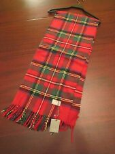tessilechiti tartan plaid fringe blanket throw 51x67 nwt red green made in Italy