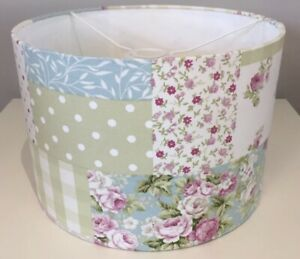Handmade Lampshade in Fryetts Floral Patchwork Fabric Shabby chic, Various sizes