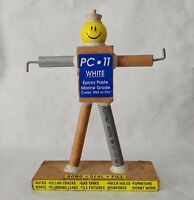 Vintage PC-11 Epoxy Glue Guy Counter Display Sign Advertising Hardware Store