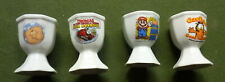 4 Ceramic Collectable Egg Cups ,Thomas The Tank,Mario,Garfield,Forever Friends