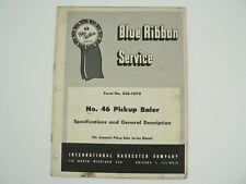 Automatic No 46 Pickup Baler Service Manual International Harvester 1957