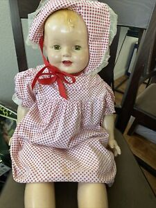 """Vintage Effenbee Lovums Doll 27-28 """" Antique Composition Doll"""