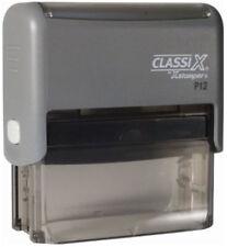 Classix P12  - Xstamper Custom 3 line return address Self-Inking Rubber Stamp