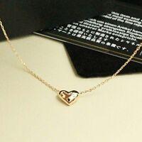 Cute Romantic women's Simple Design Exquisite Gold Chain Heart Love Pendant Neck