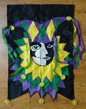 "Mardi Gras court jester New Orleans flag 24"" x 36"" heavy duty nylon"