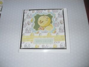 Children's Easter Card - Chick / Rabbit - Handmade with Envelope - no words (59)