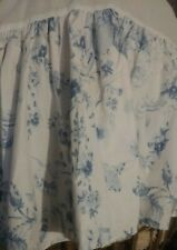 Vintage Laura Ashley Bedskirt Victoria Blue Twin floral gathered euc dust ruffle