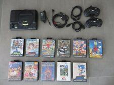 Sega Mega Drive Konsole + 11 Spiele: Alex Kidd Aladdin Sonic Cool Spot Fifa 95
