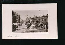 Lancashire Lancs LIVERPOOL Ranelagh St Tram #390 c1900/10s? RP PPC by Philco