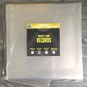 "100 Outer vinyl records plastic cover sleeves 12inch"" LP - FREE SHIPPING"