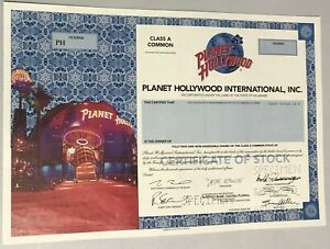 1999 PLANET HOLLYWOOD INTERNATIONAL, INC. Stock Certificate SPECIMEN