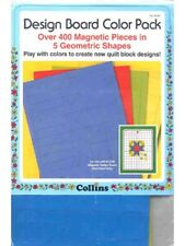 NEW! Dritz Quilting Magnetic Design Board Color Pack Quilt  400 Pieces  5 Shapes