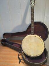 Vintage 1918 Orpheum No. 1 Tenor Banjo with Case