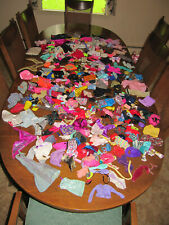 Table full of Barbie Doll Clothes & Accessories Lot 1990's nearly 3.2 lbs
