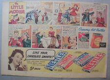 Nestle's Chocolate Bars Ad: The Little Mother ! 1930's-1940's 11 x 15 inches