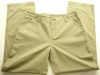 North Face Womens A5 Series Active Hiking Camping Pants Khaki Button Sz 8 X 30