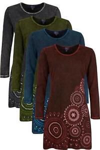 Long sleeve stonewash mandala dress