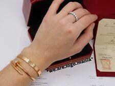Auth Cartier Love Bracelet Rose Gold Size 16 W/All Paperwork & Receipt