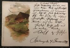 1899 Bochum Germany Picture Postcard Cover To Bruxelles Belgium Art