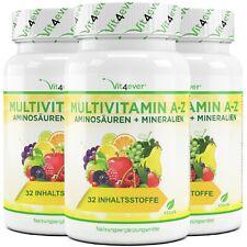 3x Multivitamin A-Z = 360 compresse Multivitamin alte dosi 32 sostanze attive Vegan