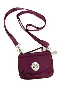 Baggallini Small Crossbody Wallet Burgundy Red Snap and Zip Around Closure