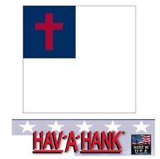 USA MADE CHRISTIAN FLAG Christianity Cross Bandana Scarf Head Wrap Scarve Hanky