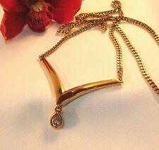Pierre Lang Collierkette Collier mit Stein vergoldet Kette / bk 099