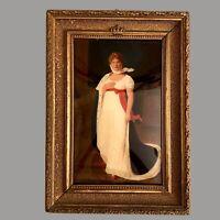 Schöne Kopie ~1890: Bild KÖNIGIN LUISE Prunkrahmen Gewölbtes Glas 34x24x3cm ALT