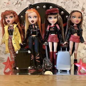Bratz Doll Bundle Pretty N Punk Carry Case Meygan Cloe Rock Angelz Yasmin Cloe