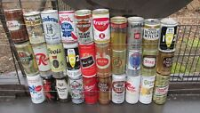 Qty = (36) Vintage Aluminum Beer Can Collection -[Empty Cans]-