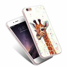Painting Giraffe TPU Pattern Phone Cases Back Cover for iPhone Samusung Huawei