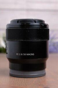 Sony SEL50M28 FE 50mm f/2.8 Macro Lens with Caps