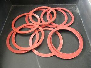 Red Fibre Washers- 76mm O/D 64mm I/D X 1.6mm Thk- Various quantities