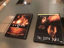 The Sixth Sense + Signs Dvd Movies!