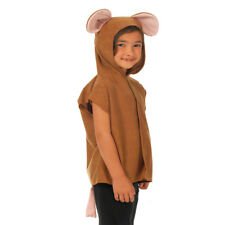 Kids Childs Brown Mouse Fancy Dress Costume Rodent Outfit One Size 3-9 Yrs