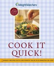 Weightwatchers Cook It Quick!  Speedy Recipes with Low Points® Value,New Free sh