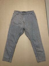 SCANLAN THEODORE JEANS WOMEN ~ SIZE 8 ~ GOOD COND DROP CROTCH PANTS ANIMAL PRINT